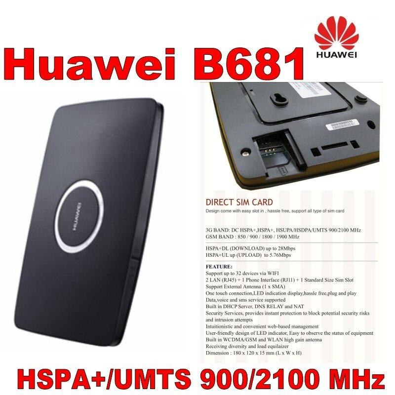 Lot de 500 pièces tout neuf, routeur 3G Huawei B681 3G routeur, expédition DHL