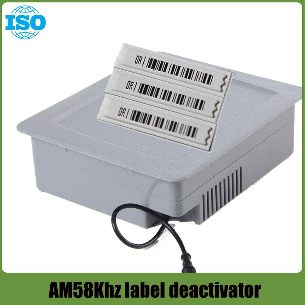 Sistema de alarme de segurança do sistema eas desativador para 58 khz supmarket securiy desativador etiqueta macia etiqueta máquina de decodificação