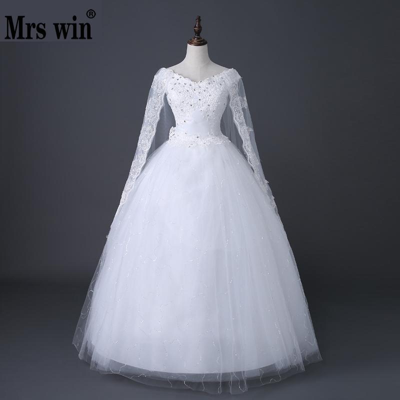 Vestidos De Novia Elegante Boot-ausschnitt Ballkleid Hochzeit Kleider 2018 Spitze Appliques Kristall Schleier Einfache Prinzessin Hochzeit Kleid
