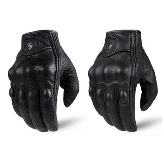 Retro Pursuit Perforated Real Leather Motorcycle Gloves Moto Waterproof Gloves Motorcycle Protective Gears Motocross Gloves gift 3
