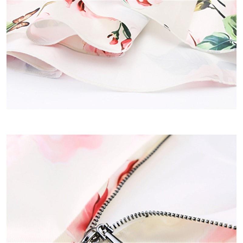 De Mode Robe Lady Euramerican Bal Nouvelle Moyen Rose Printemps Style Street Élégant Courroie Imprimer Été High Gaine 2018 SvFqR