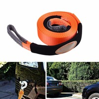 Emergency Durable 2 95 19 68 Tow Rope Tralier Traction Hoisting Belt SUV Orange