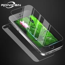 Protetor de tela frontal e traseira vidro temperado para iphone 6 6s 4 4s 7 8 plus película protetora à prova de explosão para iphone 5 5S se
