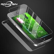 フロントとバックスクリーンプロテクター強化ガラスのための iphone 6 6s 4 4s 7 8 プラス防爆保護フィルム iphone 5 5S 、 SE