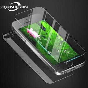 Image 1 - フロントとバックスクリーンプロテクター強化ガラスのための iphone 6 6s 4 4s 7 8 プラス防爆保護フィルム iphone 5 5S 、 SE