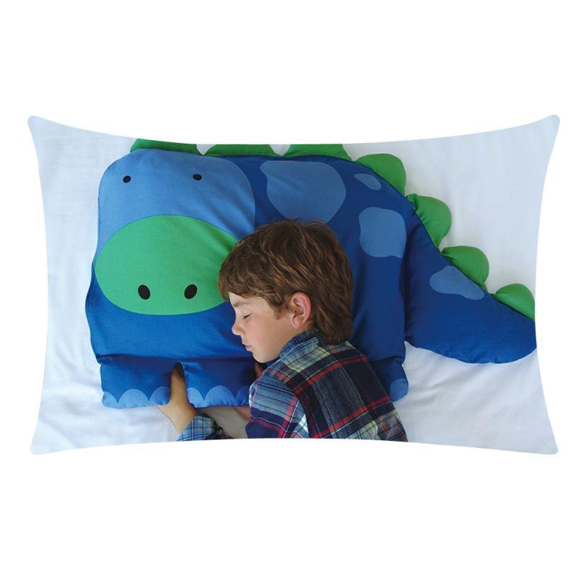Nieuwe Kids Animal 50*30 Cm Kussensloop Jongens Dylan De Dinosaurus Huisdier Kussen Sham Voor Autostoel Dec13