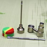 Cachimbas Sets de herramientas 90 grados 14 MM 18mm gr2 titanio clavo Titanium CARB Cap Dabber vidrio pipas de agua Tuberías