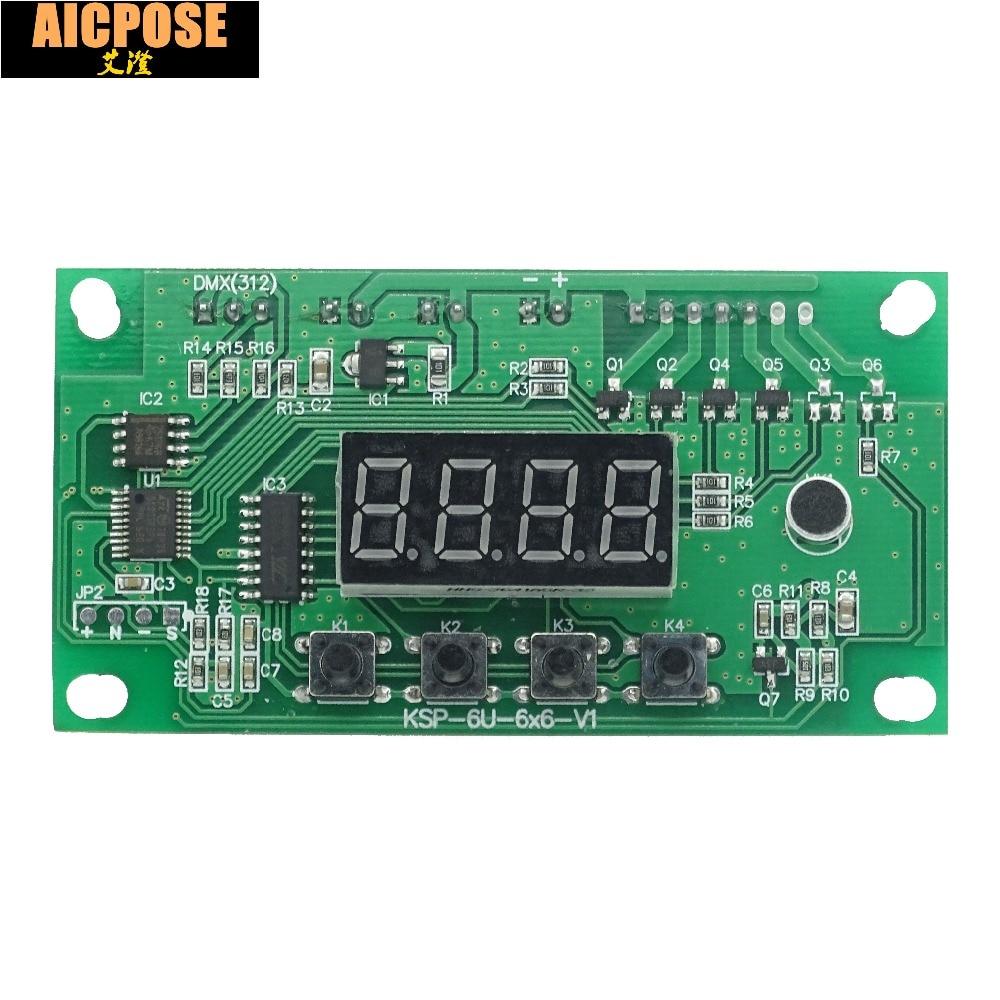 Free Shipping 7x12W, 6x12w,  5x12w, 12x12w  LED PAR Motherboard Voltage 12-36V Par Led RGBW 4in1 7*12w Motherboard 4/8 Channel