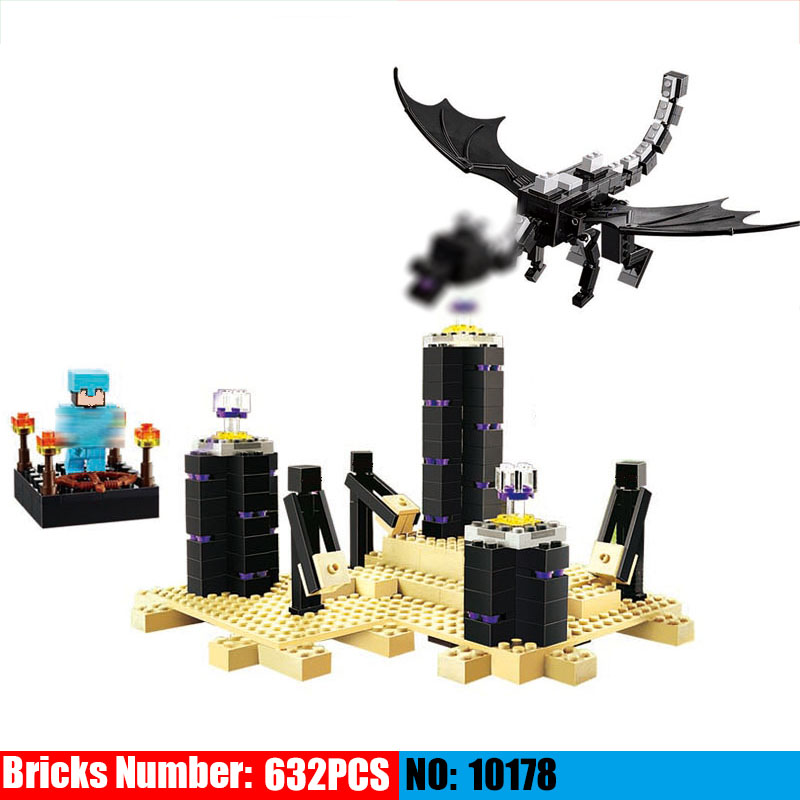 The Ender Dragon 10178 my world model self-locking Building Blocks DIY Classic Architecture toy for children compatible 21117 cubicfun 3d puzzle paper building model assemble gift diy baby toy the hall of supreme harmony world s great architecture mc127h