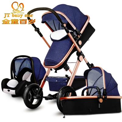 2017 3 em 1 carrinhos de bebê de carro do bebê luz bebê recém-nascido a carruagem 0 ~ 36 meses do bebê Europa pram carriage cinco cores entrega Rápida