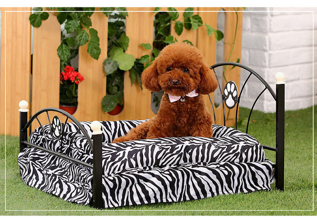 Pet Wrought Iron Bed Teddy Cat Luxury Dog Kennel Is