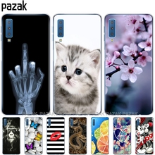 soft Cases For Samsung Galaxy A7 2018 Phone shell Colorful P