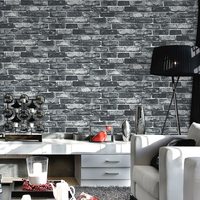 Chinese Style Living Room Kitchen Bathroom Waterproof Wall Sticker Home Decor Removable Vinyl PVC Brick Stone
