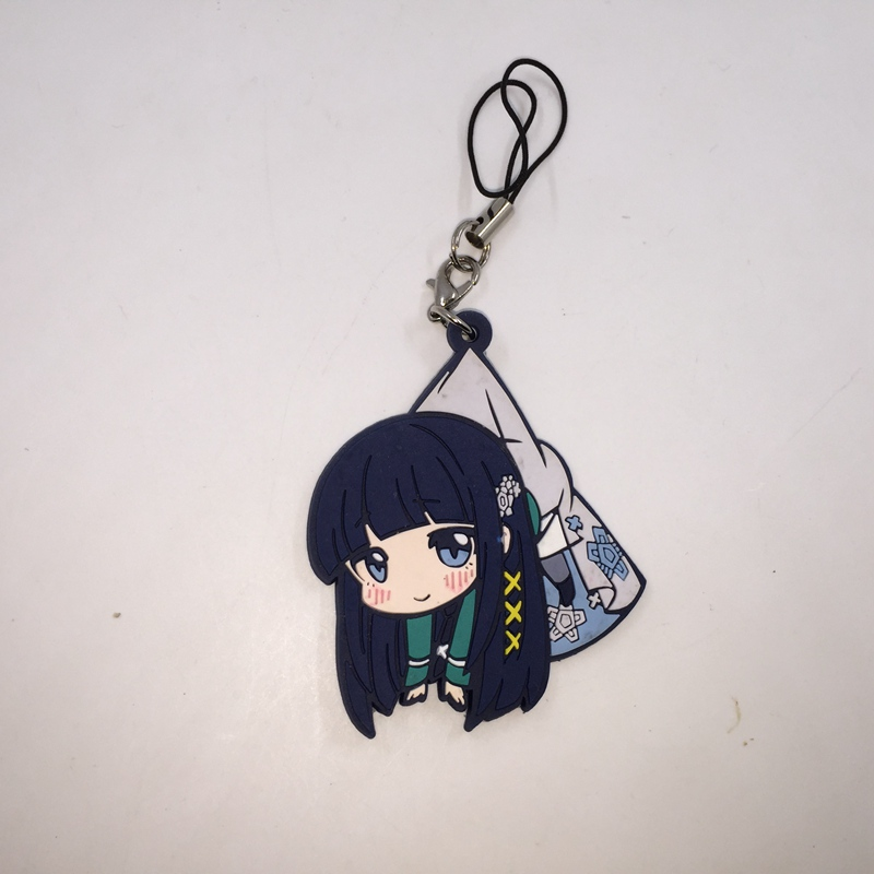 1PCS The Irregular at Magic High School Shiba Miyuki Petanko Rubber Strap Key Chain