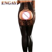 ENGAYI Sexy Brand Summer Women Faux Leather Latex Underwear Erotic Lingerie Babydolls Nuisette Lenceria Costumes Porn