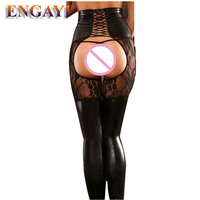 ENGAYI Sexy Brand Summer Women Faux Leather Latex Underwear Erotic Lingerie Babydolls Nuisette Lenceria Costumes Porn