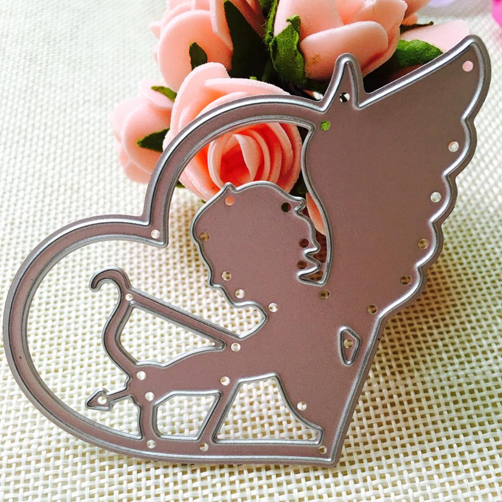 8*5cm scrapbooking cute Love god angel shape DIY Metal steel cutting die sweet wedding Book photo album art card Dies Cut