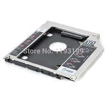 "2.5 ""SSD kasa HDD muhafaza 2nd alüminyum HDD Caddy SATA 9.5mm apple MAC dizüstü CD-ROM uzay sabit disk braketi(China)"