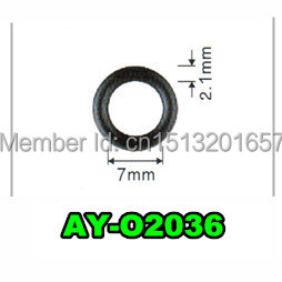 Ayounes Seewell Store TOP FEED MPI  Fuel injector repair kit viton seals  ASNU030 For Denso injection (AY-O2036,7*2.1mm)
