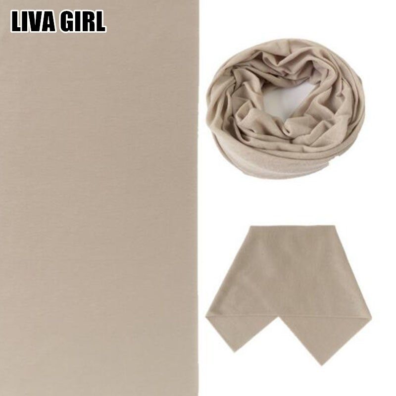 Liva Girl All-Match Solid Color Soft 24*48cm Headband Magic Headscarf Tube Neck Face Mask Multifunctional For Unisex Accessories