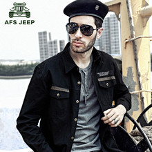Plus size M-5XL AFS JEEP 2016 Autumn military high quality 100% pure cotton men's casual brand long shirt man spring full shirts