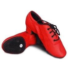 Латинский Танец учитель леди кожаные ботинки женщин спорт мягкое дно латинской обувь мужской женский Латинский танец женской обуви красный банкетный зал