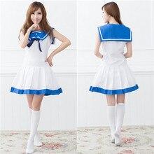 Señora navy traje de marinero japonés anime maid cosplay trajes de rol ropa helloween make up party dress b-3926