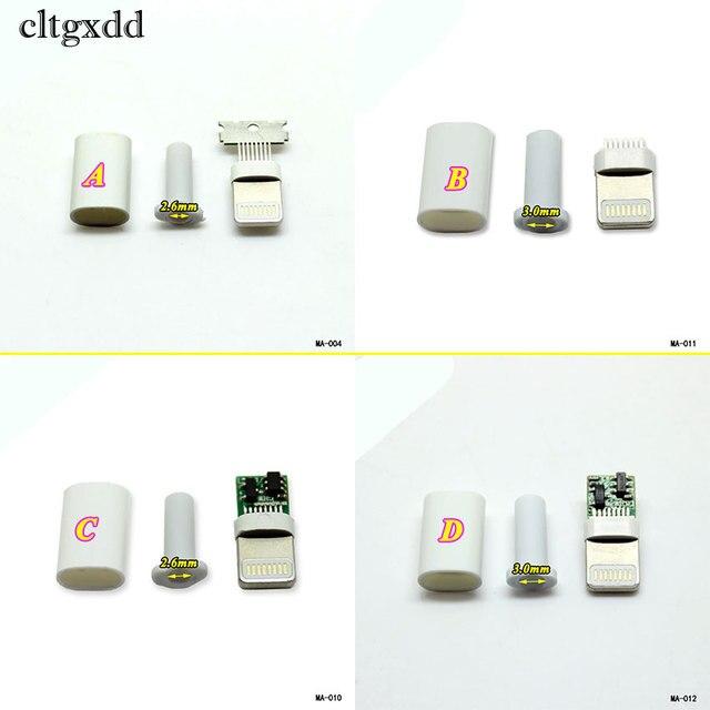 Cltgxdd溶接タイプ8ピンオスプラグusbコネクタアダプタコンバータ用iphone 5 5 s 6 6 s 7 8プラス