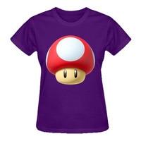 RTTMALL Mode 2017 Zomer Stlye Grafische Dames Tees Korte Mouw Katoen Paddestoel Nieuwe Mario Bros Womens camiseta Leuke t-shirts