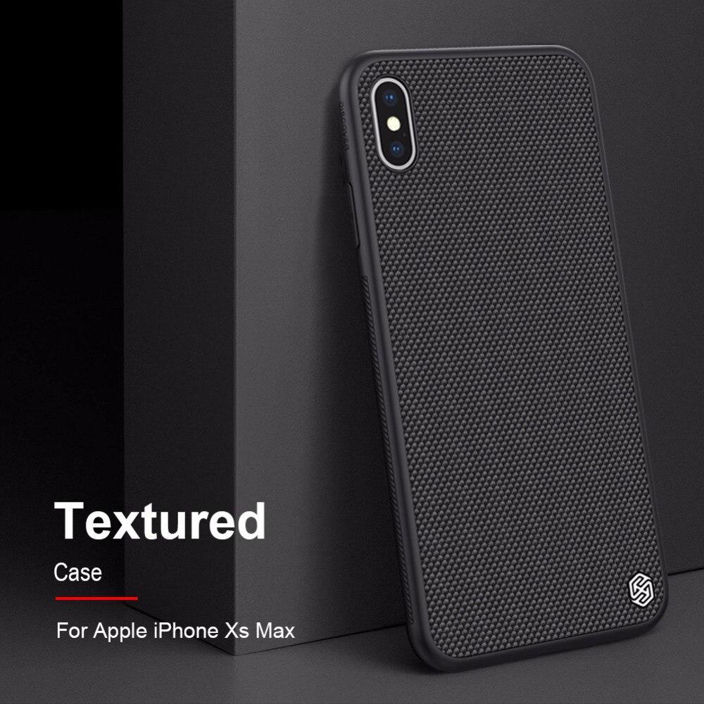 Case para iphone fibra de Nylon Texturizado XS Max NILLKIN caso tampa traseira para o iphone XS Max XR durável não- deslizamento Fino e leve