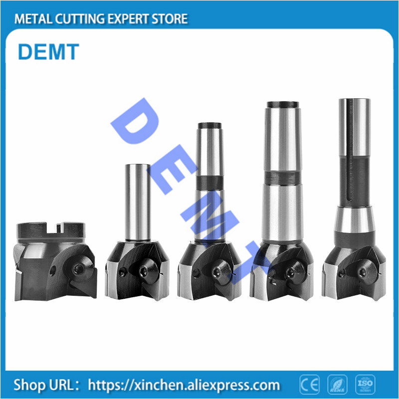 Indexable End Mills One-piece Shank 30-100mm MT3 Right Angle Milling Cutter For TPKR TPKN 1603 / TPKN2204 Or 3100511 / 3130511