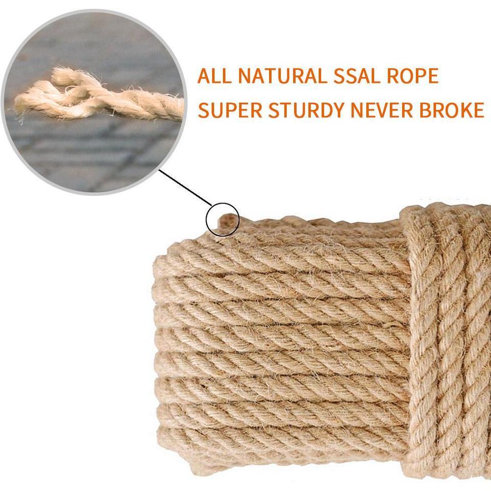 Sisal Cuerda De Repuesto Piernas Natural Varios Rascador Pet Revestimientos Rascador Juguetes para Sillas De Uni/ón De La Cuerda 50m M
