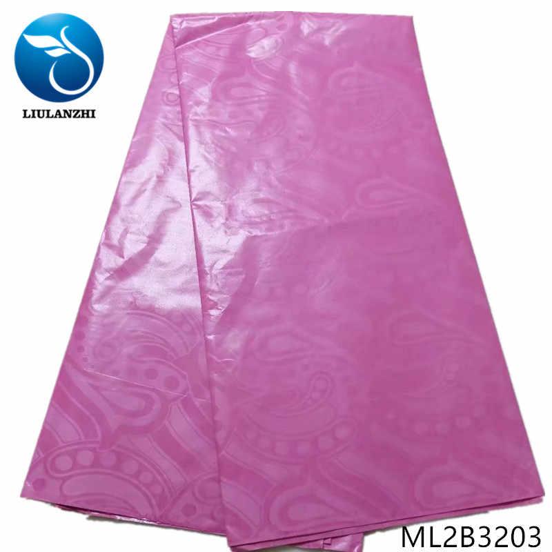 LIULANZHI bazin africano telas de encaje nueva llegada riche getzner tela para ropa 5 yardas huellas bazin de bordado tela ML2B32