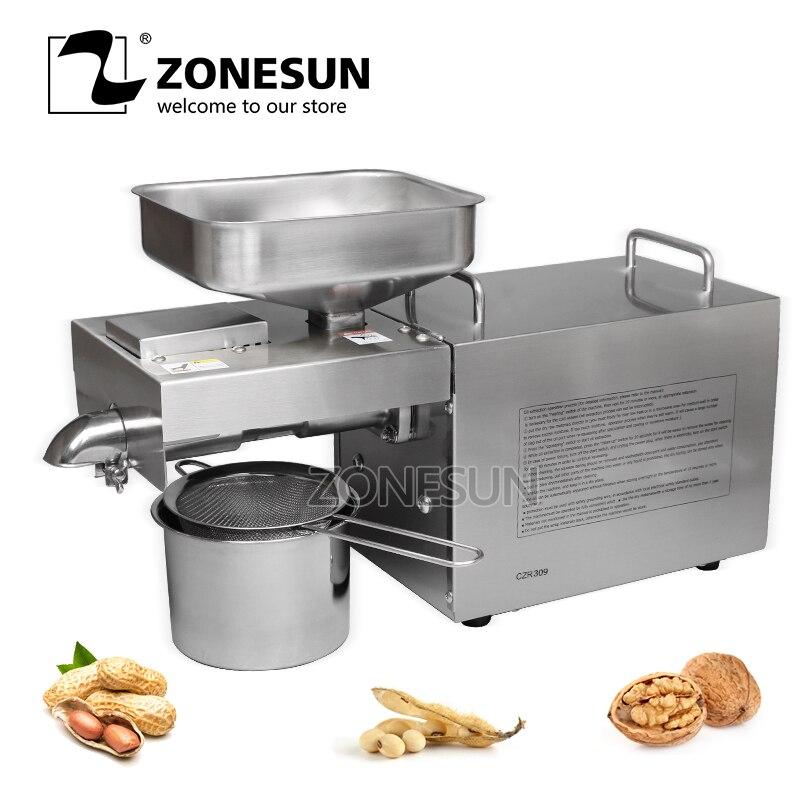 ZONESUN OP 200 арахис кунжут соевое масло пресс машина шнековый пресс для извлечения масла Прессер из нержавеющей стали 110В или 220В доступны