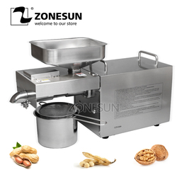 ZONESUN OP-200 Peanuts sesame soybean Oil Press Machine Oil Extraction Expeller Presser Stainless Steel 110V or 220V available