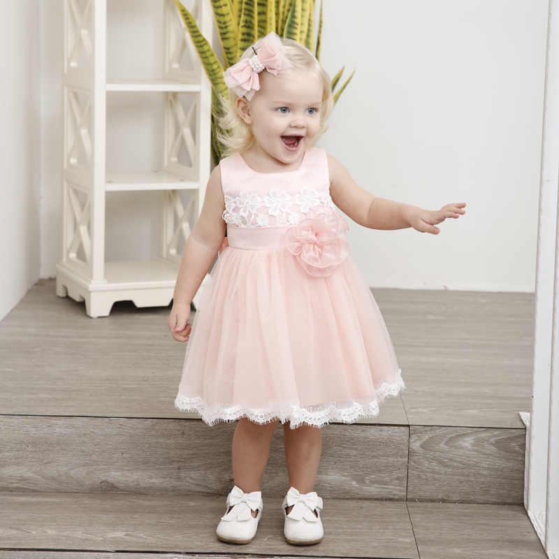 b14b37f6ec631 Baby Girls Summer Dress 2018 Fashion Toddler Clothes For Newborn Baptism  Dresses Infant 1 Year Birthday