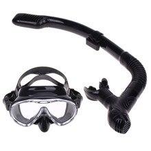 d6dcde35c Profissional Máscara de Mergulho de Silicone Anti-Fog Goggles Óculos Snorkel  Tubo de Respiração Definir Pesca Natação Equipament.