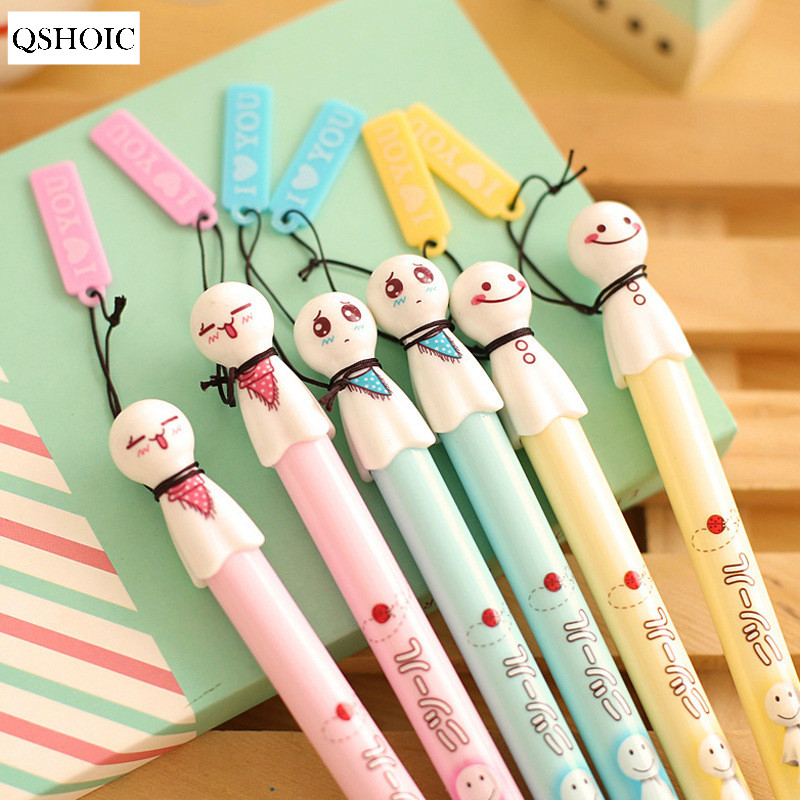 30pcs/lot AR02, South Korea stationery Sunny Doll fresh and lovely black pen, neutral pen and creative learning products 12pcs lot south korea stationery love secret garden straight liquid type fountain pen 2017