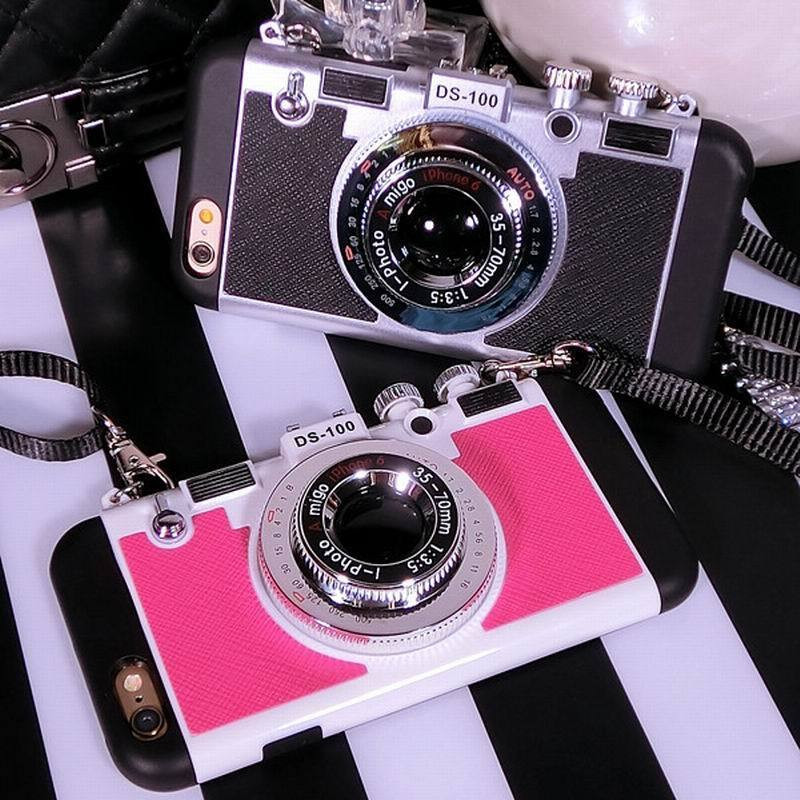 Luxury Retro 3D Camera Style Protective Phone Back Case Cover 3