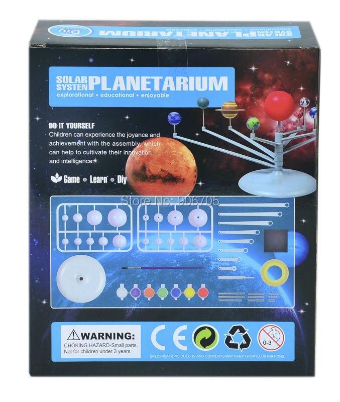 Новый Солнечный Системы планетарий масштабные модели моделирование собрать с образовательной Обучающие игрушки Монтессори Aeromodelo для дете...