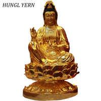 88 cm Guanyin statue de bouddha artisanat religieux sculpture personnalisée artisanat budas guan yin estatua décor à la maison figurine statues