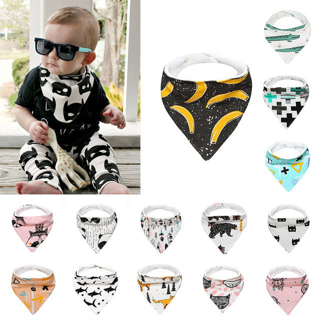New Born Baby Bibs Feeding Burp Cloths Cotton Fleece Saliva Dribble Triangle Boy Girl Toddler Bandana Bibs Towels Babadores D15