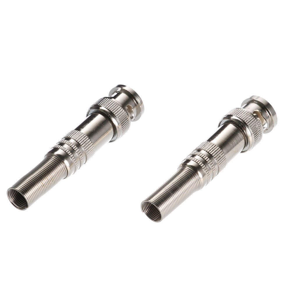 Metal BNC Q9 Male Solderless Connector Plug Adapter for CCTV Camera Copper Core