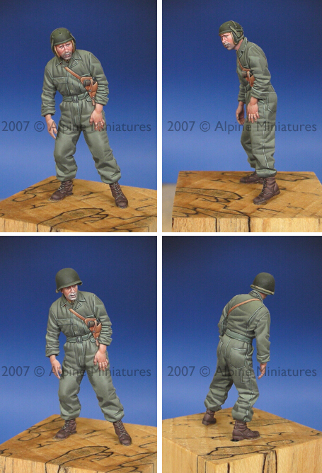 resin assembly Kits 1 35 WW2 US Tank Crew soldier watch front Unpainted Kit Resin Model