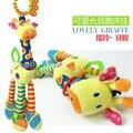 0-2 anos de idade do bebê de Brinquedo de Pelúcia boneca de brinquedo de pelúcia Do Bebê Girafa Torno pendurar BB, dente de plástico brinquedos educacionais do bebê frete grátis
