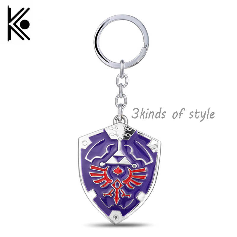 Anime jewelry Game Legend of Zelda Keychains Metal Key Chain Logo Keychain Surrounding Anime Key Chains Souvenirs Drop shipping