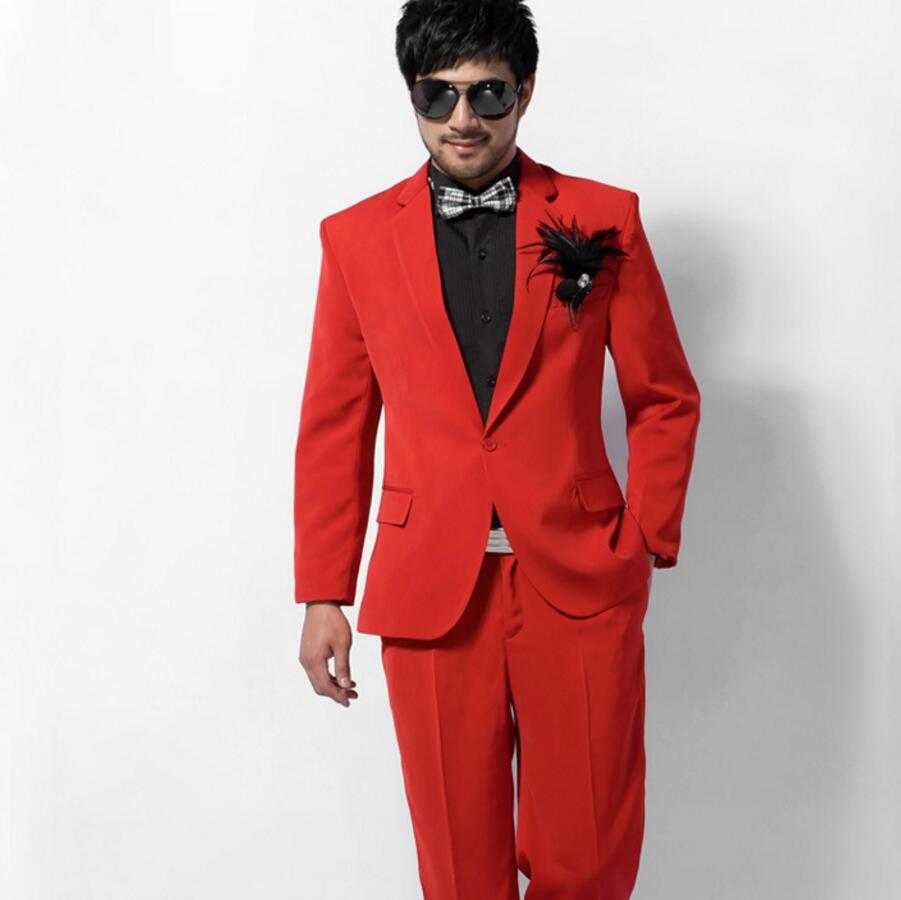 Christmas Party Suit Men.Us 96 46 9 Off High Quality Men Suit One Button Formal Wedding Groom Dress Christmas Party Men Suit Two Piece Jacket Pants In Suits From Men S