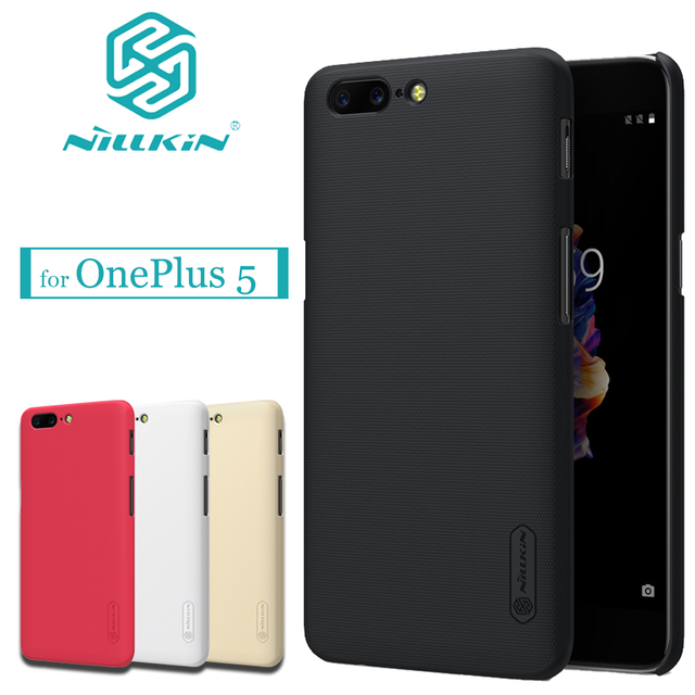 Oneplus 5 Case NILLKIN Frosted PC Plastic Hard back Phone Cover for one plus 5 1 plus 5 A5000 oneplus5 Nilkin Gift Screen Flim
