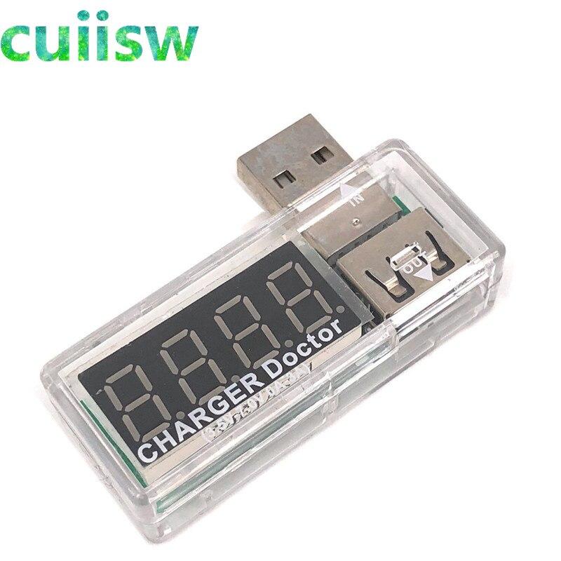 Купить с кэшбэком Digital USB Mobile Power charging current voltage Tester Meter Mini USB charger doctor voltmeter ammeter LED display