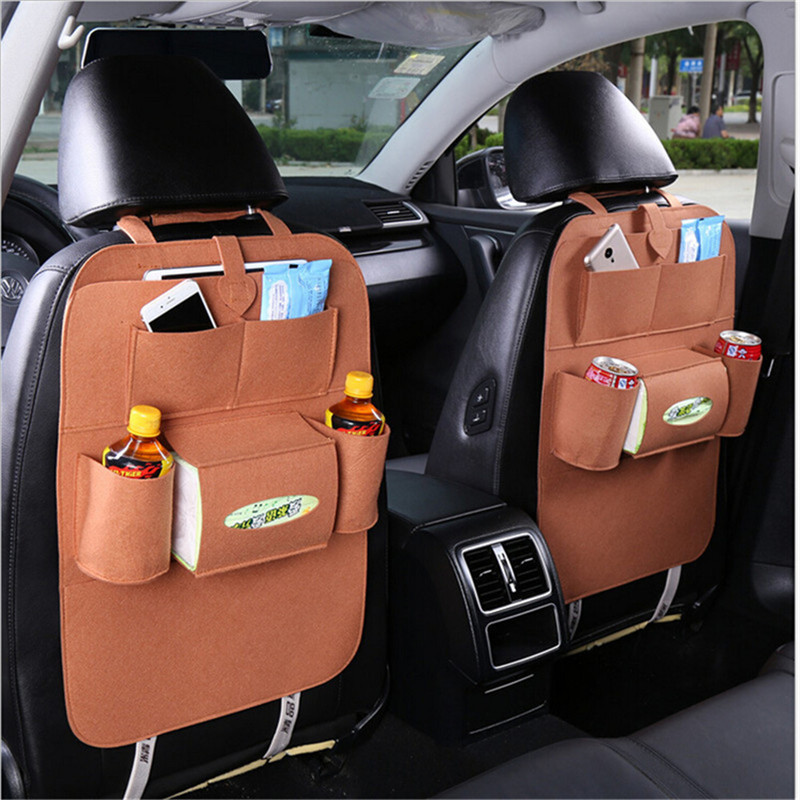 Multi-functional Felt fabric Car Back Seat Storage Collection Car Bag Hanging Chair Back Seat Storage Organizer ...